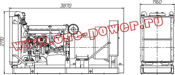 Дизельная электростанция ADV-360 (360 кВт), чертеж