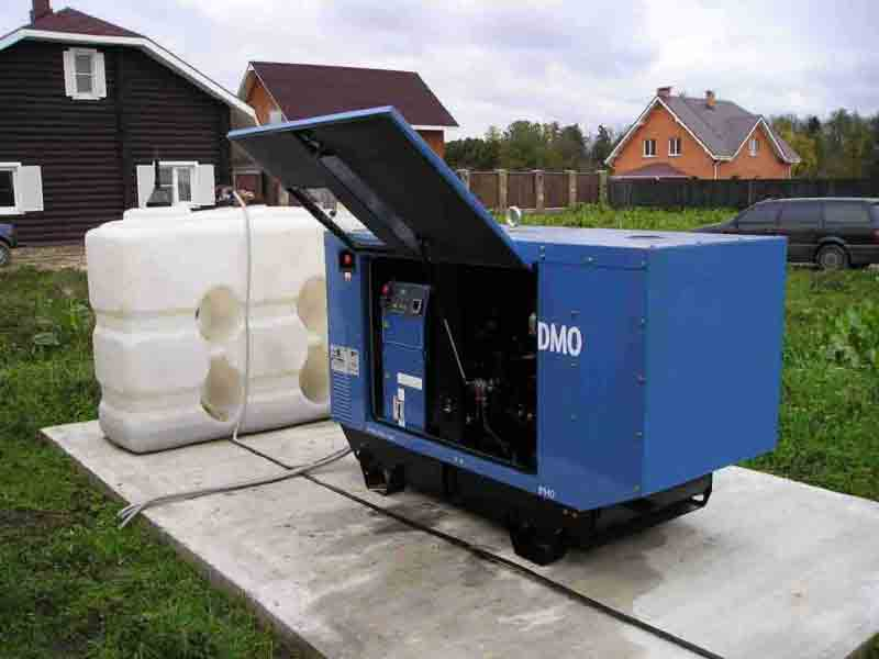 Установка генератора на улице