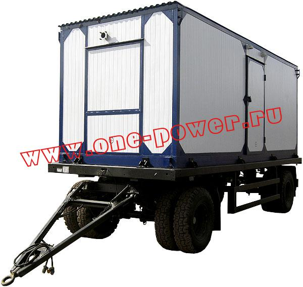 Дизельная электростанция АД-100, исполнение в контейнере на шасси