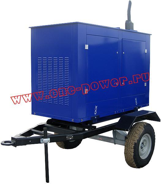 Дизельная электростанция АД-16 (16 кВт), исполнение в капоте на одноосном прицепе