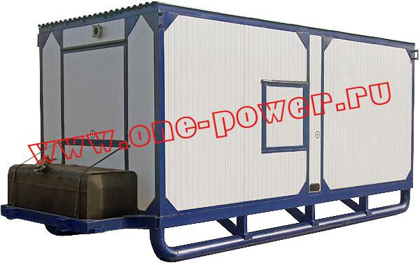 Дизельная электростанция АД-200, исполнение в контейнере на салазках