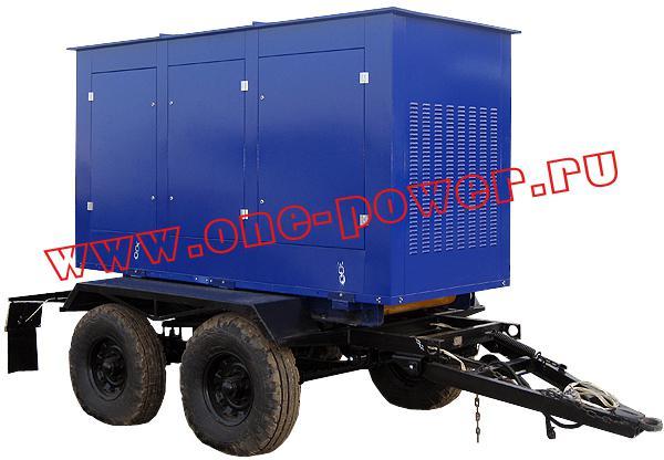 Дизельная электростанция АД-200, исполнение на двухосном прицепе