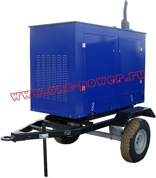 Дизельная электростанция АД-40 исполнение в капоте на одноосном прицепе (рис. 1)