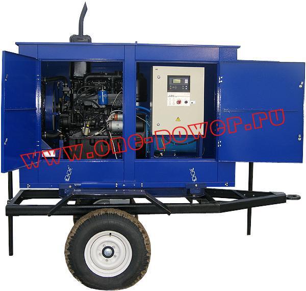 Дизельная электростанция АД-40 исполнение в капоте на одноосном прицепе (рис. 2)