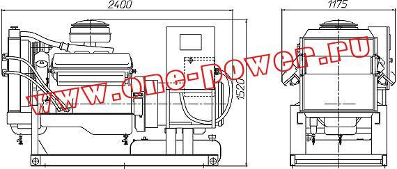Дизельный генератор 100 кВт с двигателем ЯМЗ чертеж