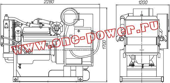 Дизельная электростанция АД-120, чертеж