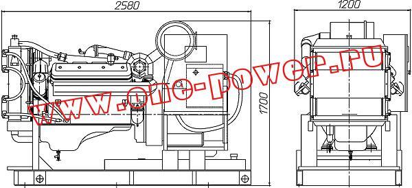 Дизельная электростанция АД-150, чертеж