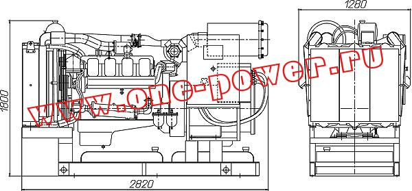 Дизельная электростанция ЭД-250 (250 кВт), чертеж