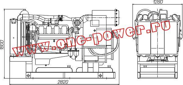 Дизельная электростанция АД-250 (250 кВт), чертеж