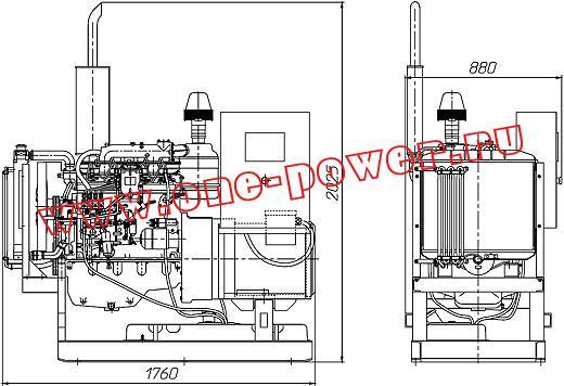 Дизельная электростанция АД-30, чертеж