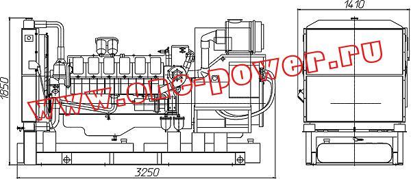 Дизельная электростанция АД-315, чертеж
