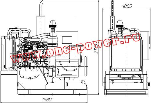 Дизельная электростанция АД-50, чертеж