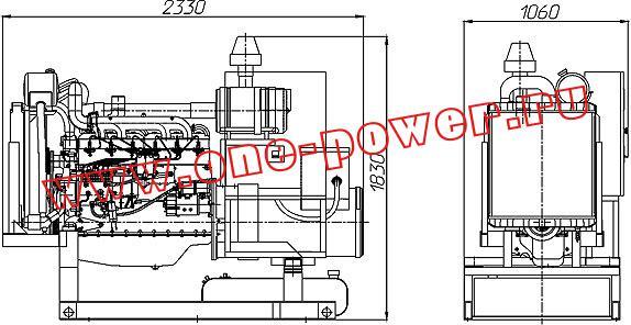Дизельная электростанция АД-75, чертеж