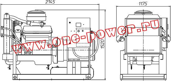 Дизельная электростанция АД-75 YAMZ, чертеж