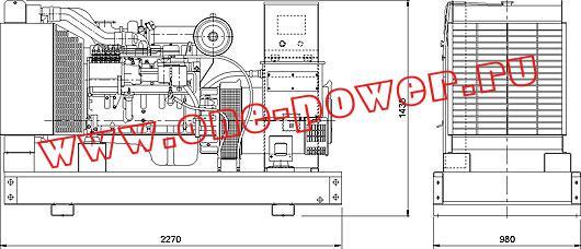 Дизельная электростанция ADC-100, чертеж