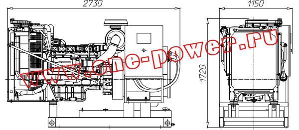 Дизельная электростанция ADV-160 (160 кВт), чертеж