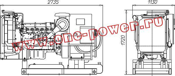 Дизельная электростанция ADV-200, чертеж