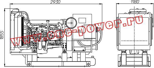 Дизельная электростанция ADV-250 (250 кВт), чертеж