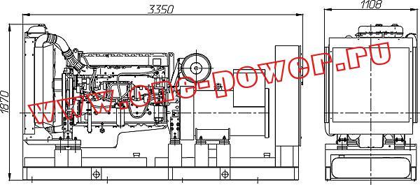 Дизельная электростанция ADV-630 (630 кВт), чертеж