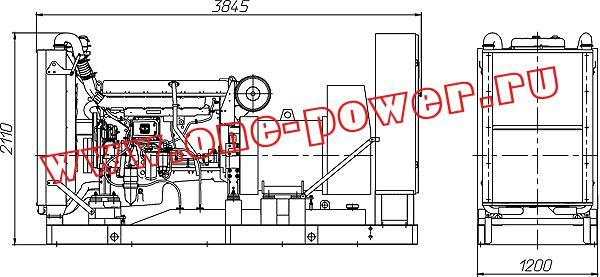 Дизельная электростанция ADV-460, чертеж