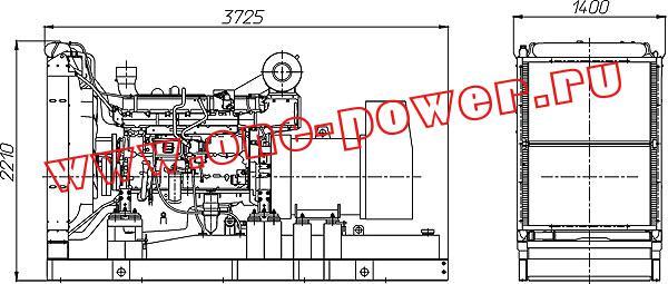 Дизельная электростанция ADV-1000 (1000 кВт) чертеж