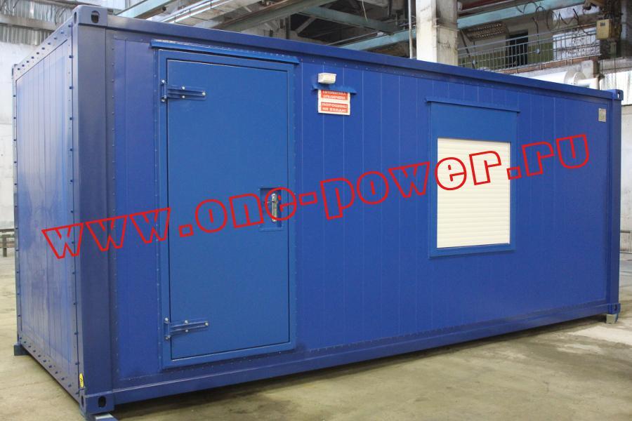Фото дизельного генератора внутри контейнера