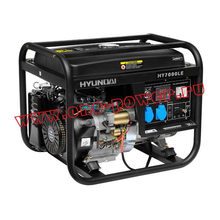 Бензиновый генератор 5 кВт Hyundai HY 7000LE