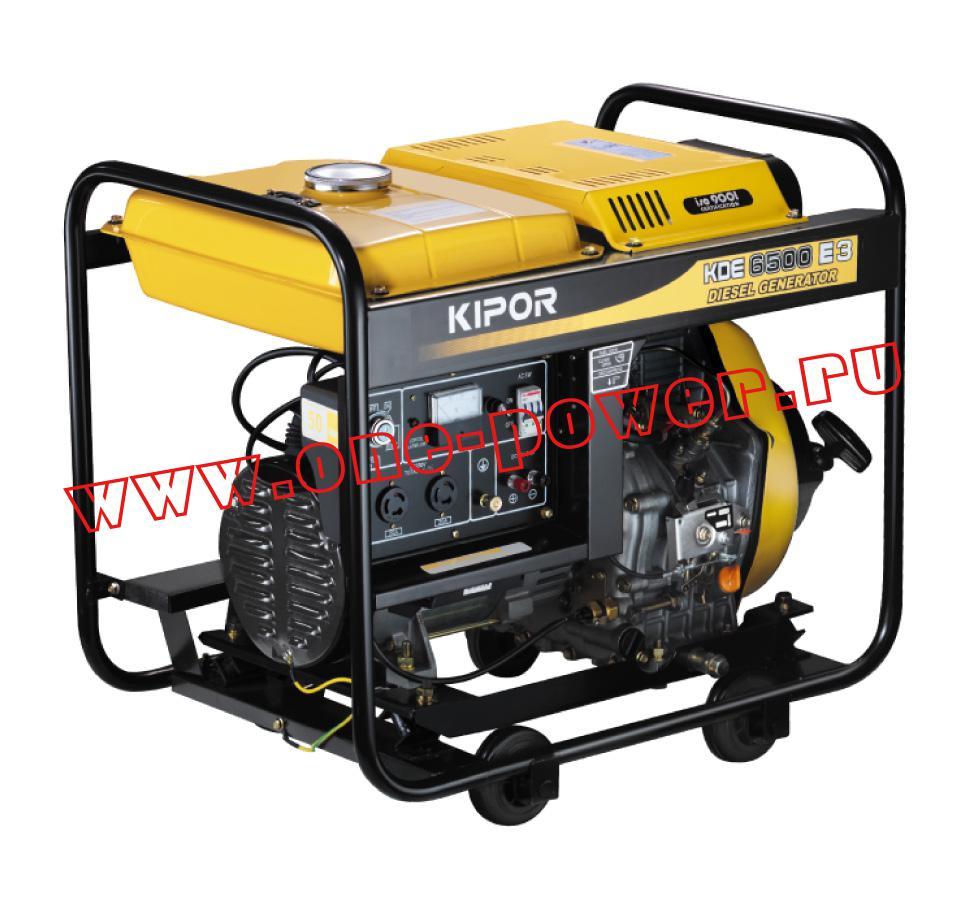 Бензиновый генератор  Kipor KDE6500E3