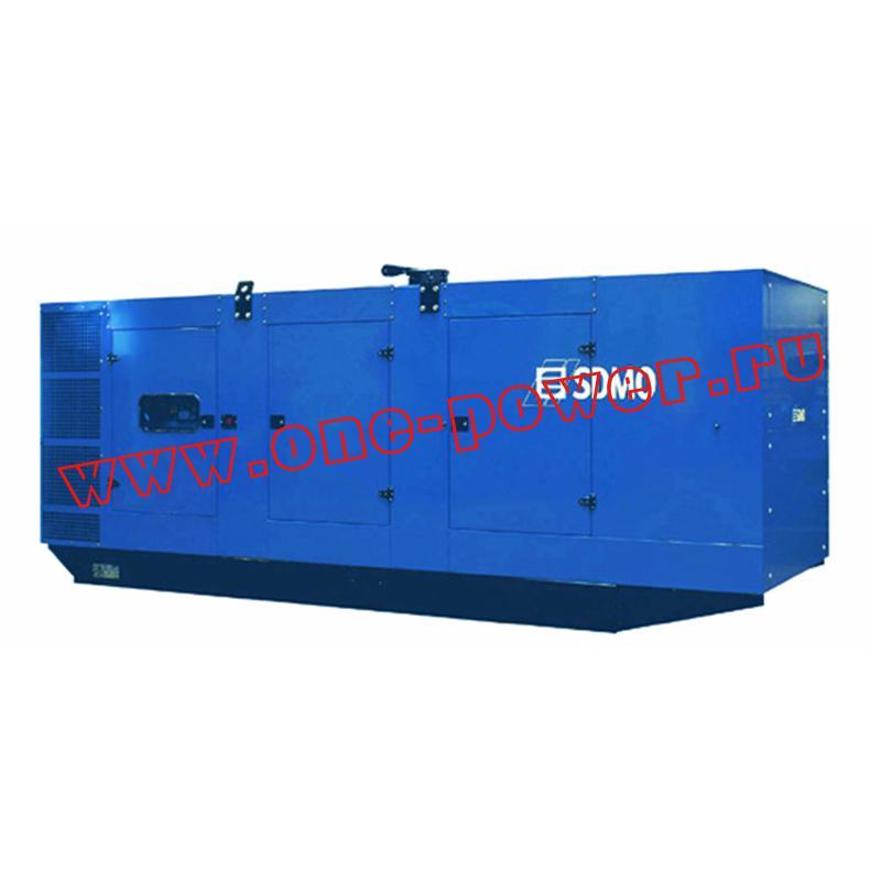 Промышленный дизельный электрогенератор в шумозащитном кожухе