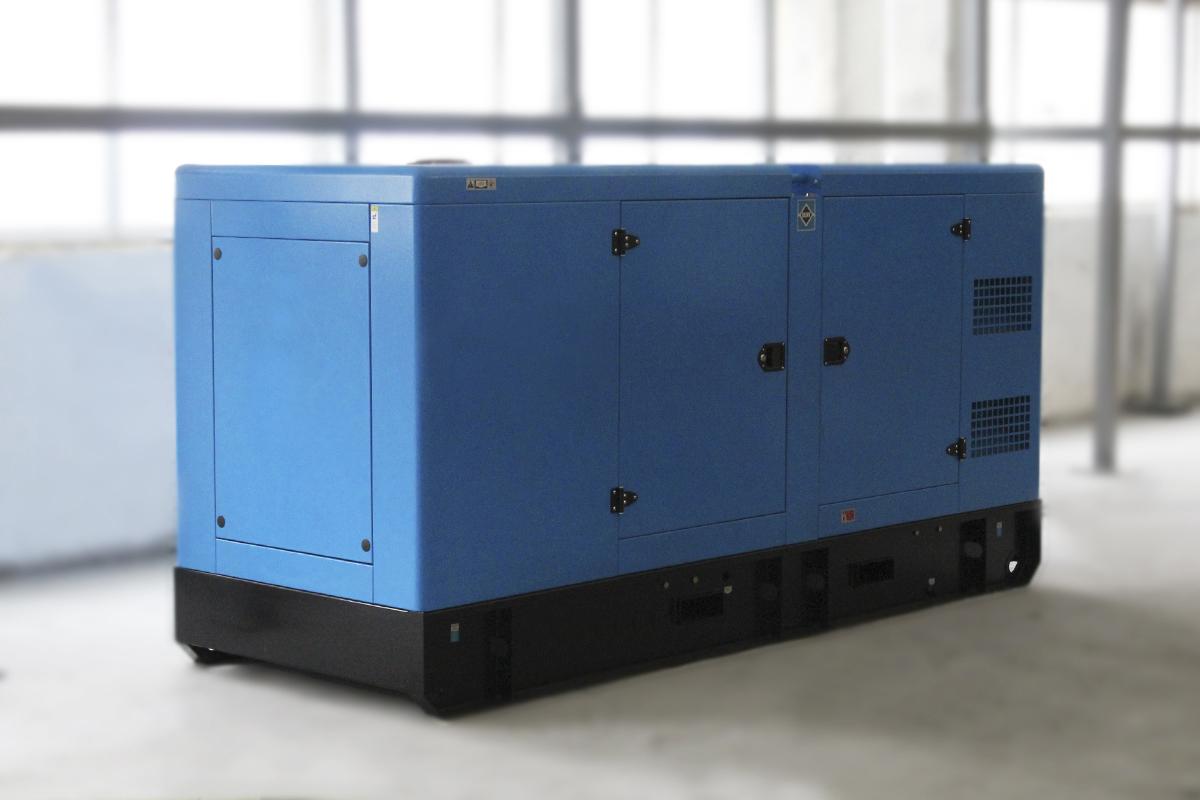 Фото дизельного генератора в кожухе