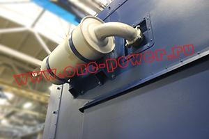 Фотография выхлопной трубы контейнера для ДГУ