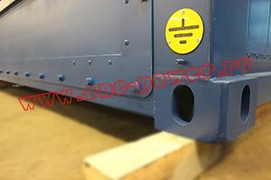 Фото крепления  заземления блок-контейнера для ДГУ