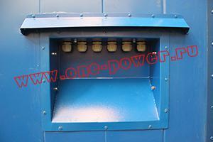Фото вводной панели контейнера для ДГУ