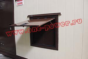 Фото вентиляционного люка контейнера для ДГУ в открытом виде