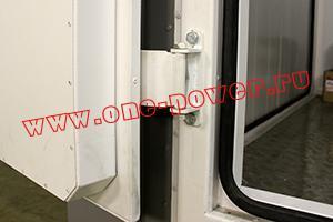 Фото крепления дверной петли к контейнеру