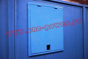 Запираемое вентиляционное окно встроенное в контейнере