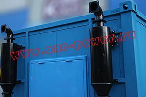 Выхлопная труба установленная на контейнере