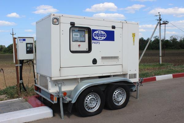 Поставка передвижного генератора для сети автозаправочных станций
